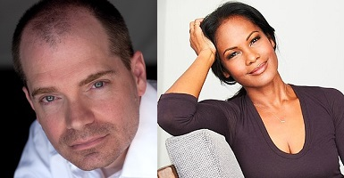 Christopher Farnsworth and Robinne Lee at DIESEL, A Bookstore in Brentwood