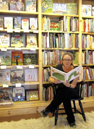 Childrens' Books Seller Clare at Diesel A Bookstore in Larkspur